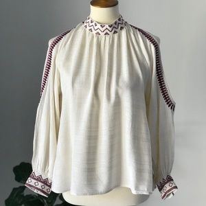 Anthropologie Maeve Cold Shoulder Top